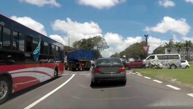 Un bus dans la mauvaise voie
