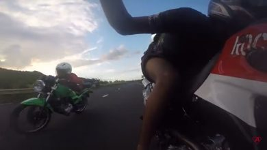Photo of Nouvelles vidéos d'un Mauricien allongé sur son deux-roues