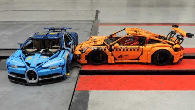 Photo of Collision entre une Porsche 911 GT3 RS et une Bugatti Chiron… en Lego