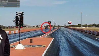 Photo of Il détruit sa Nissan GT-R durant la drag race