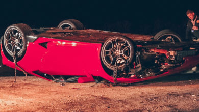 Photo of États-Unis : Une Lamborghini accidentée abandonnée