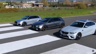Photo of La Mercedes-AMG A45 S, la BMW M2 Competition et l'Audi RS3 Sportback s'affrontent