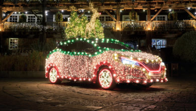 Photo of La Nissan Leaf se déguise en sapin de Noël