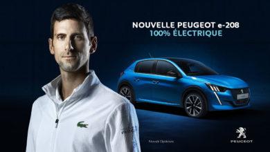 Photo of Novak Djokovic ambassadeur de la Peugeot e-208