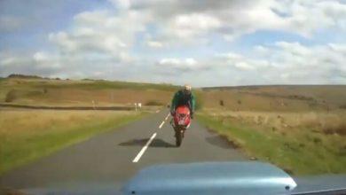 Photo of Angleterre : Un motard sauvé par sa combinaison munie d'airbags