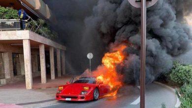 Photo of Monaco : Une Ferrari prend feu en pleine rue